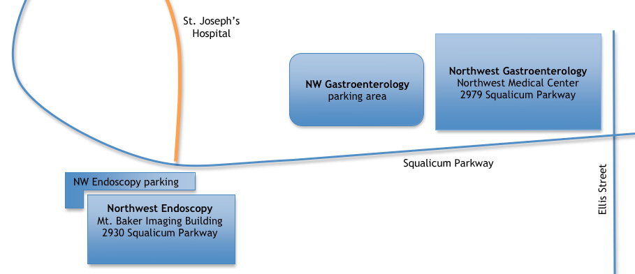 Map to NW Gastroenterology & NW Endoscopy